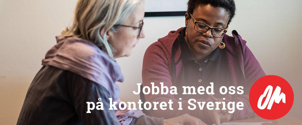 Jobba med oss på kontoret i Sverige